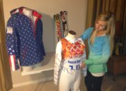 Museum Co-founder Maryann Batiste Prepares the Olympic Displays of Julia Mancuso and Daron Rahlves!